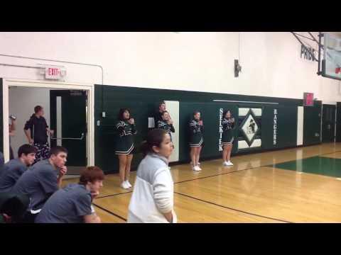 Selkirk High School cheerleaders 2012/2013