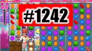Candy Crush Saga Level 1242 NEW! Complete!