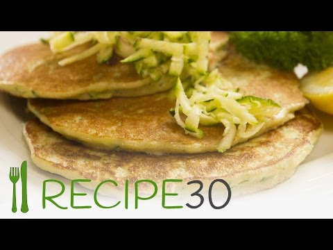 ZUCCHINI PANCAKES gluten free by Recipe30.com