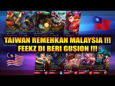 FEEKZ GUSION AUTO WIN !!! TAIWAN REMEHKAN MALAYSIA !!! MALAYSIA VS TAIWAN - ARENA CONTEST