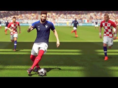 FINAL: França X Croácia - Copa do Mundo Rússia - Pro Evolution Soccer 2018 (PES 2018)