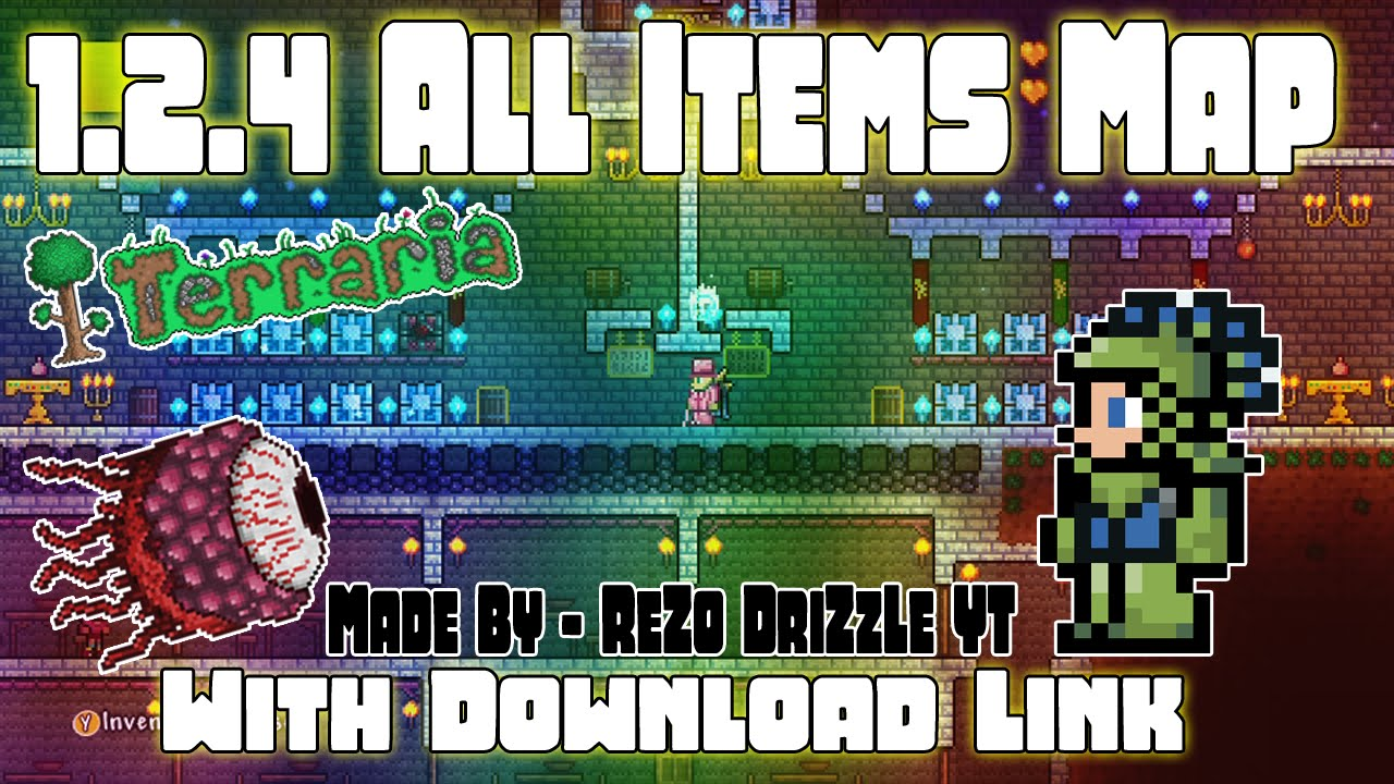 xbox terraria 1 2 4 1 all items map with modded items and