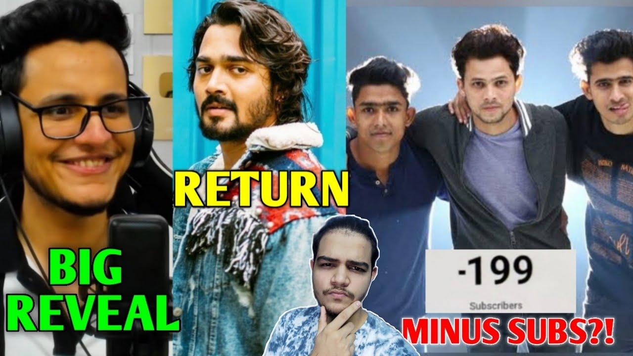 Bhuvan Bam RETURN To YouTube! | Triggered Insaan BIG ANNOUNCEMENT, Round2hell, Sourav Joshi, Elvish