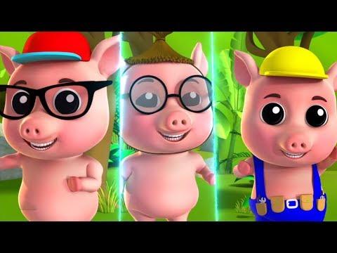 три поросенка   рифмовые песни   детская музыка   Three Little Pigs   Preschool Rhymes