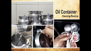 How to Clean Oil Containers  My Kitchen Oil Container Cleaning Routine Tips  Oil Cans Deep cleaning