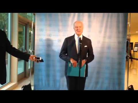 Staffan De Mistura at the UN on Syria