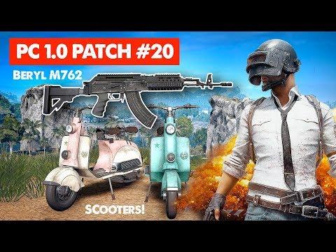 PUBG UPDATE // PC 1.0 Patch #20 | Beryl M762 & Scooter Live Stream Gameplay