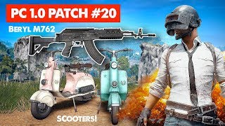 PUBG UPDATE // PC 1.0 Patch #20 | Beryl M762 & Scooter Live Stream Gameplay