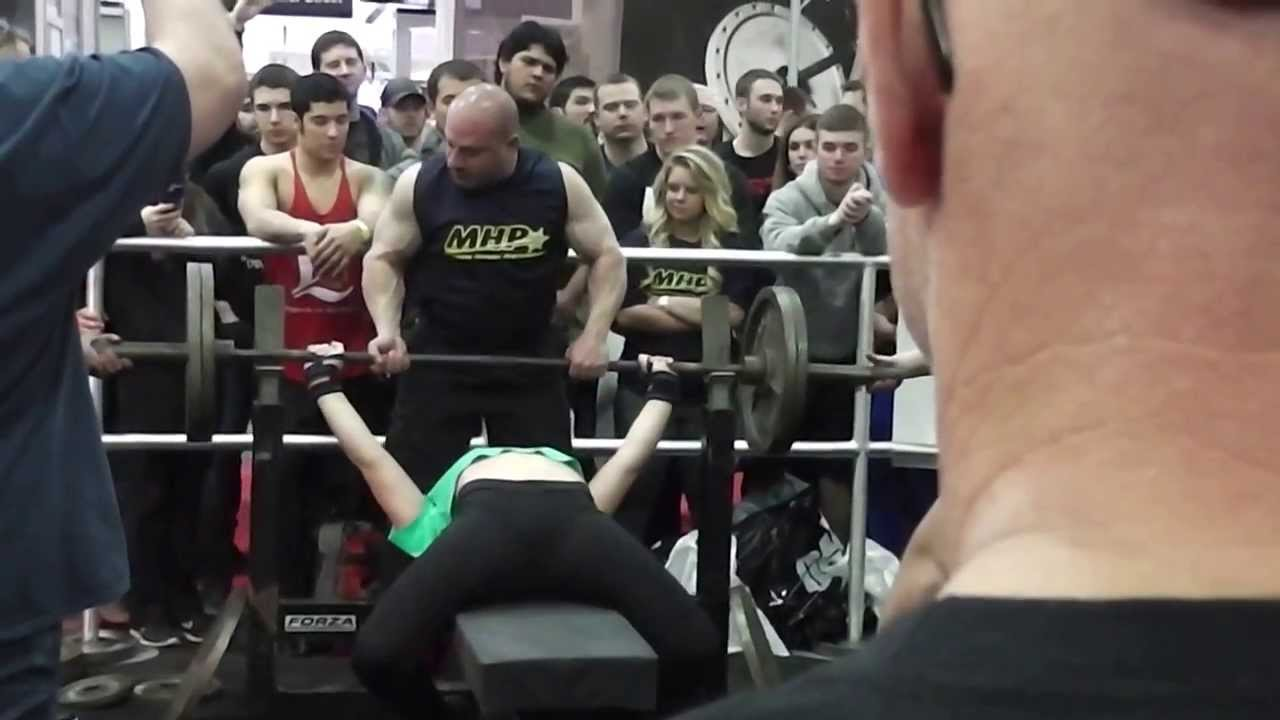 14 Year Old Girl Benches 225x2 as Warmup