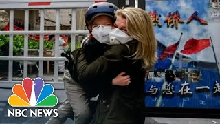 NBC News Correspondent Explains Emotional Reunion With Son After 49 days apart | NBC Nightly News
