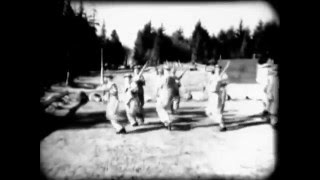 Military training on the UBC campus during World War 2