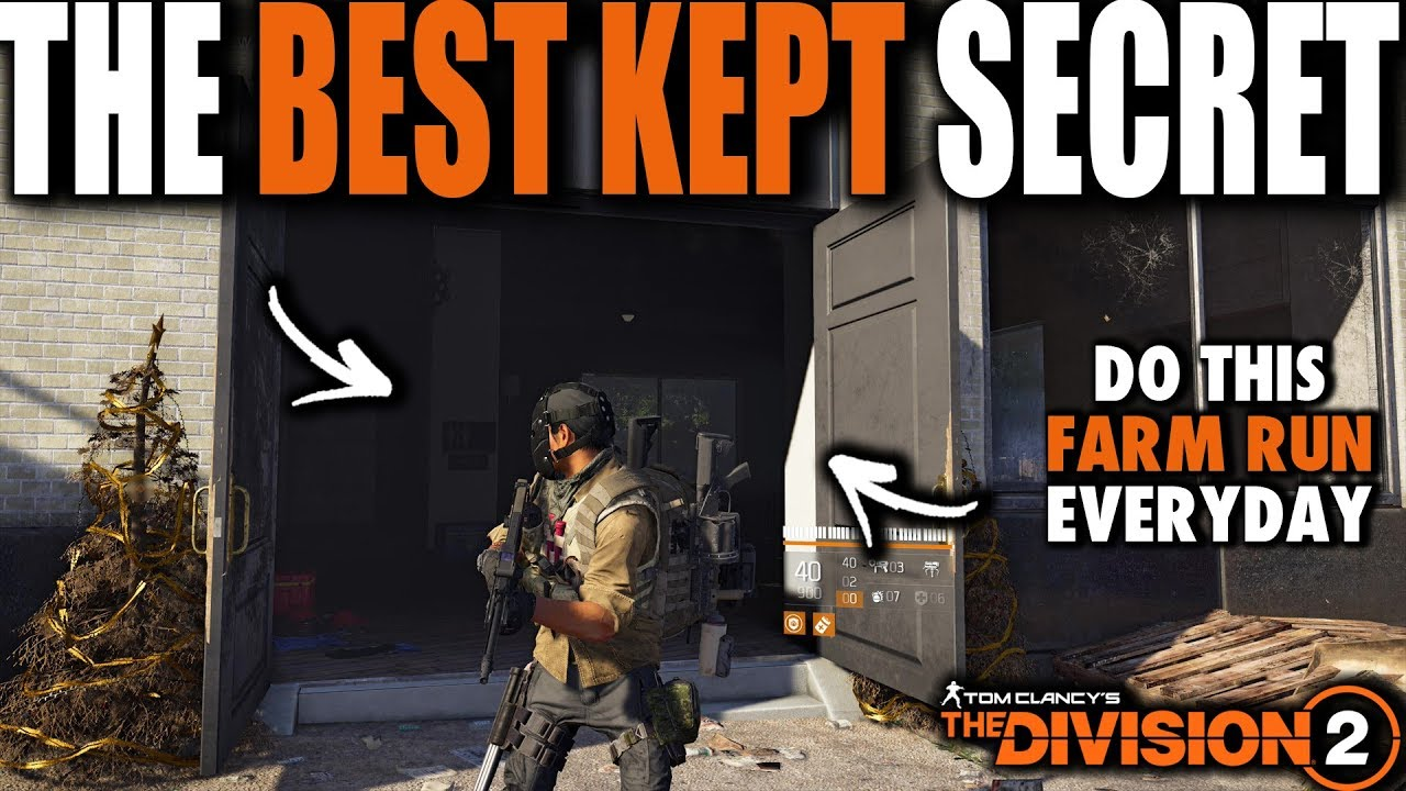 THE FARMING SPOT DIVISION 2 PLAYERS SHOULD DO EVERY SINGLE DAY | BEST KEPT  SECRET
