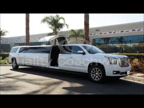"Gmc Yukon Xl Denali >> 2015 GMC Yukon Denali 185"" Stretch 5th Door Limo Limousine by Quality Coachworks - YouTube"