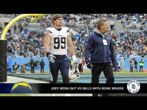 Joey Bosa out vs. Bills with bone bruise