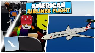 Roblox American Airlines Flight With Sky! ✈️