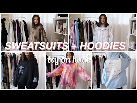 my hoodie collection + try-on haul ~ summer rachel warren 🍒
