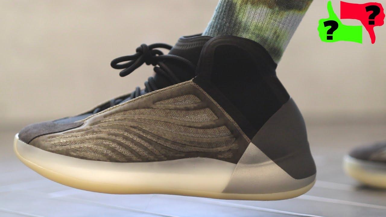 Worth Buying? adidas BOOST YEEZY QUANTUM BARIUM Review & On Feet! (YZY QNTM BSKTBL)