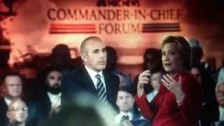 """Hillary Clinton NBC Meltdown Demands Matt Lauer be Fired & Freudian Slip """"Swinging from a Noose"""""""