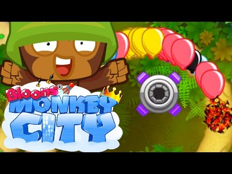 Bloons Monkey City - BEST DEFENCE EVER! THIS THING IS CRAZY!! - Gameplay Walkthrough #6