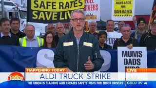 Today: Aldi truck drivers protest