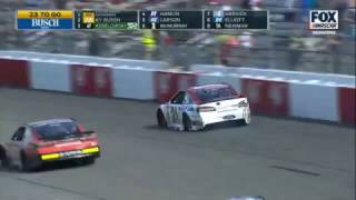 Monster Energy NASCAR Cup Series 2017. Richmond International Raceway. Ryan Blaney Crash