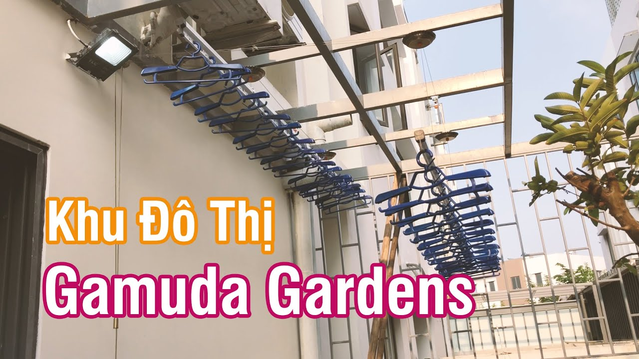 Lắp giàn phơi thông minh VINADRY GP902 tại khu đô thị Gamuda Garden