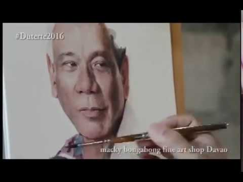 Artist  Macky Bongabong Paints Mayor Duterte In Watercolor