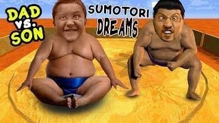 Dad vs. Son SUMO WRESTLING! Sumotori Dreams Co-Op Gameplay w/ Face Cam!