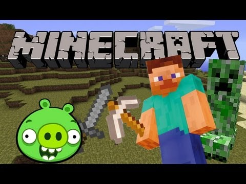 Minion Pig Plays: Minecraft #1 |