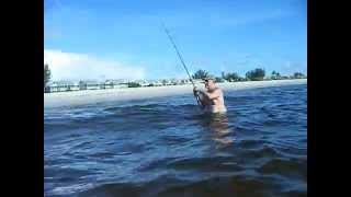Ocean Fishing Boca Grande FL BEACH FISHING lady fish nice fish