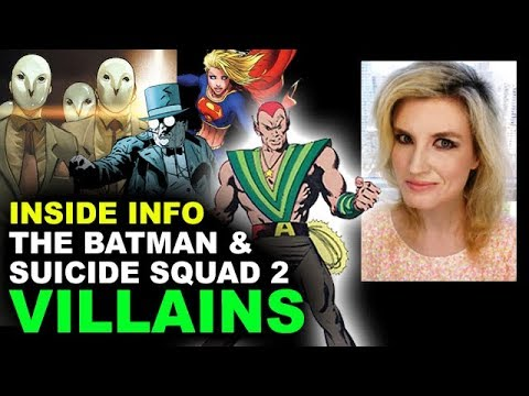 The Batman Movie Court of Owls, Suicide Squad 2 Amazo  DCEU Villains