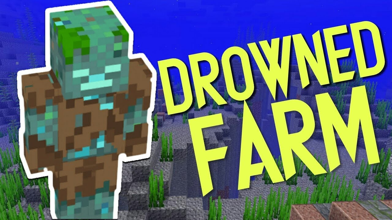 How to make an effective Drowned Farm in Minecraft! - YouTube