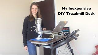 Inexpensive DIY Treadmill Desk Setup