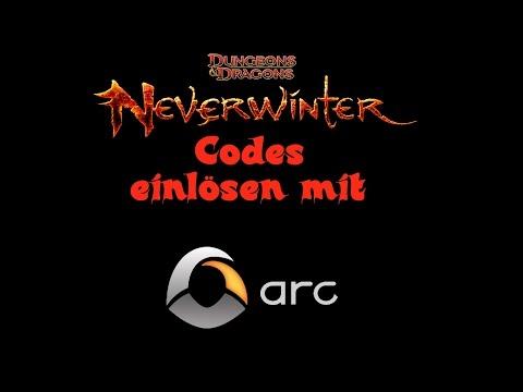 Neverwinter Codes einlösen mit arc