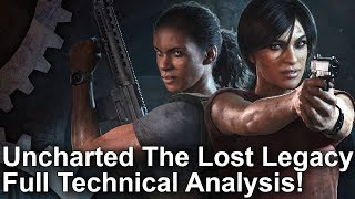 [4K] Uncharted: The Lost Legacy - The Complete PS4/PS4 Pro Analysis!