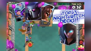 BEST 3 NIGHT WITCH DECK FOR CHALLENGES AND LADDER | FEAT. HOG,PEKKA,MINER | Clash Royale