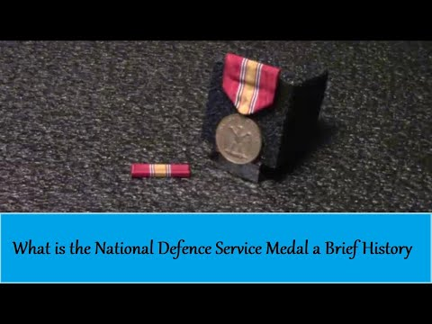 What Is The National Defense Service Medal Brief History