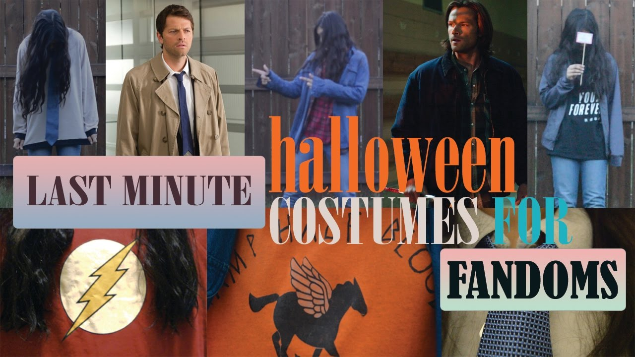 fandom halloween costumes (supernatural, percy jackson, superheroes