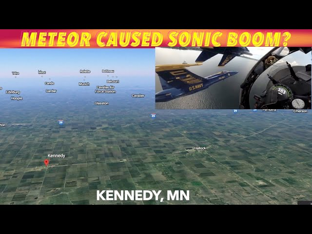 UPDATE: What Caused A Possible Sonic Boom Over Northwest Minnesota