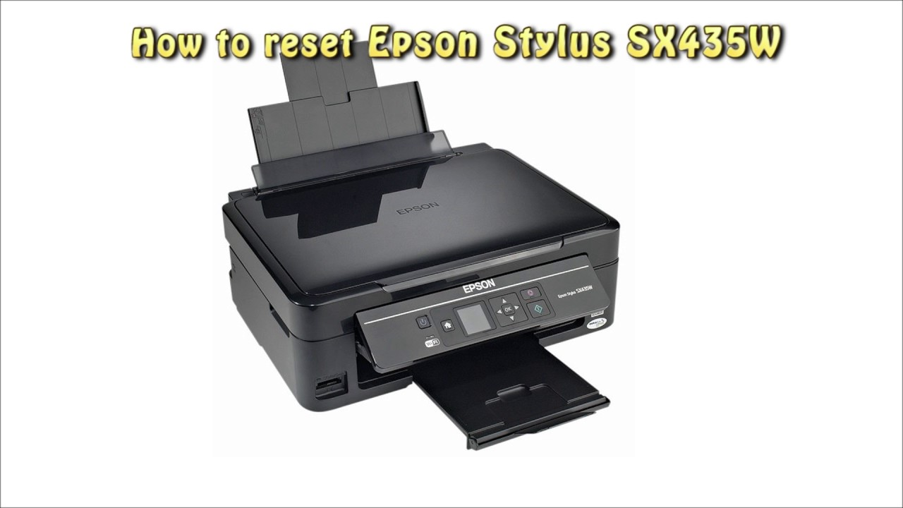 Reset Epson Sx 435w Waste Ink Pad Counter Youtube