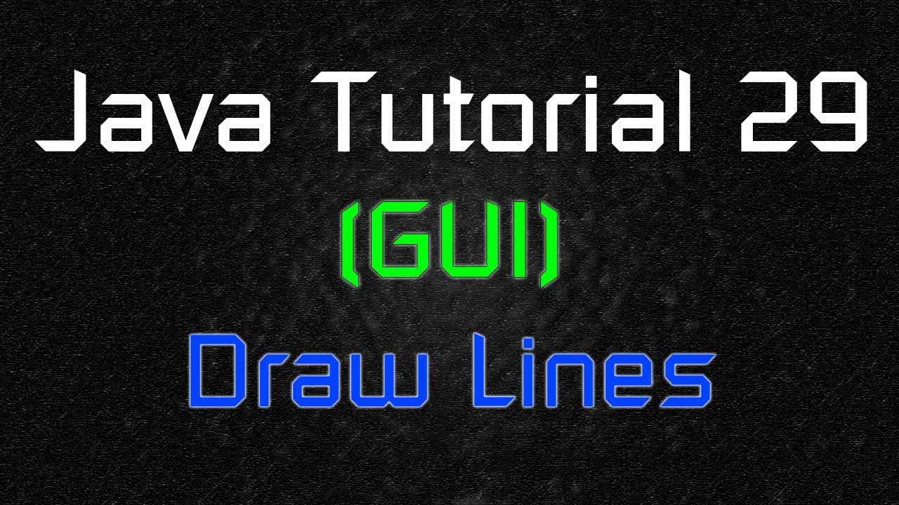 Drawing Lines In Java Gui : Java tutorial gui draw lines youtube