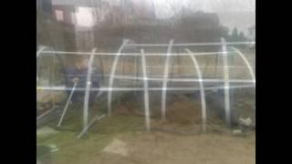 Szklarnia ogrodowa  z montażem