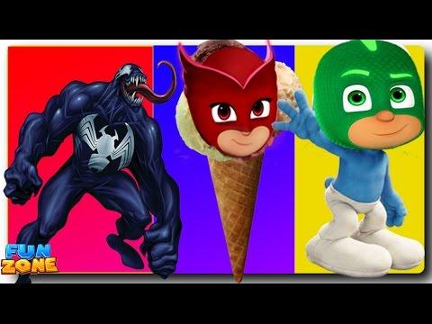Smurfs Transforms into Venom Finger Family for Kids   Smurfs Finger Family