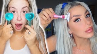 trying EVERY SINGLE viral Tik Tok beauty hack blackout drunk.
