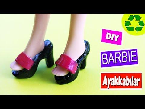 DIY Barbie Bebekler Için Ayakkabılar Nasıl Yapılır?  Kendin Yap