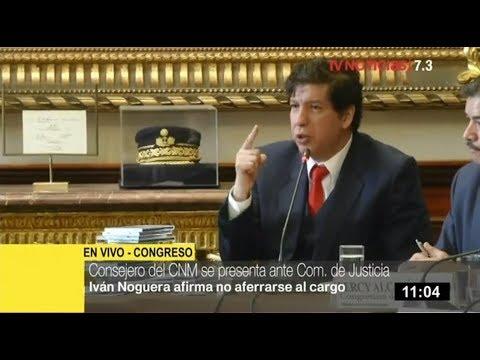 Consejero suspendido Iván Noguera niega actos irregulares en CNM ante Comisión de Justicia