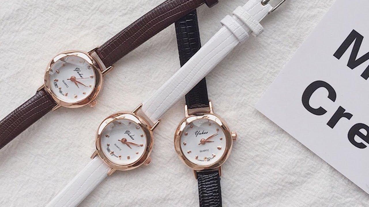 Đồng hồ nữ Yuhao dây da mặt kính vát 3d thời trang sành điệu   Tóm tắt những thông tin nói về dong ho thoi trang nu day da đúng nhất