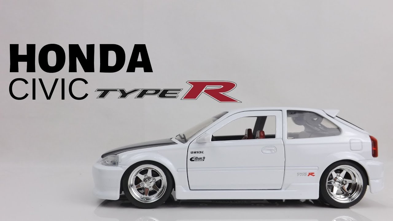 jada toys honda civic ek9 type r unboxing 1 24 scale model. Black Bedroom Furniture Sets. Home Design Ideas