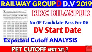RRC BILASPUR Group d DV Date , E-ADMIT Card, Document upload instructions & Expected Cutoff