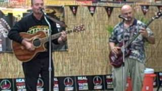 Sarasota Jukebox Joe and Johnny D. entertaining Home Depot with Come Monday